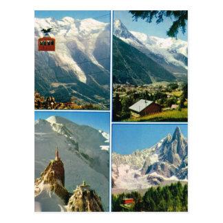 Vintage French Alps, Chamonix Mt Blanc Postcard