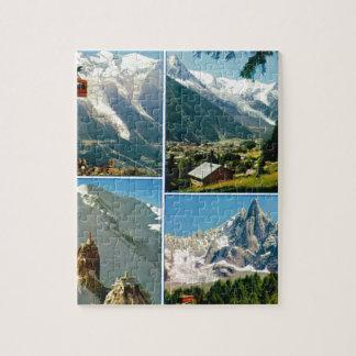 Vintage French Alps Chamonix Mt Blanc Jigsaw Puzzles
