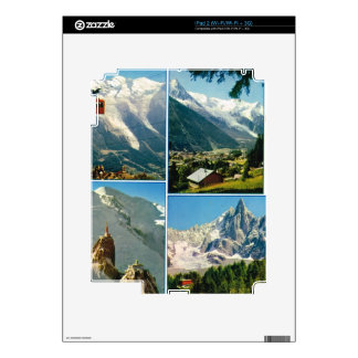 Vintage French Alps, Chamonix Mt Blanc Skins For The iPad 2