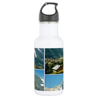 Vintage French Alps, Chamonix Mt Blanc Water Bottle