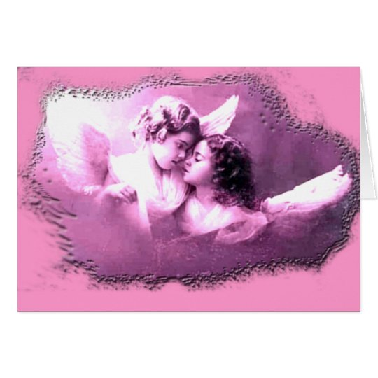 Vintage French Angels Designs Card