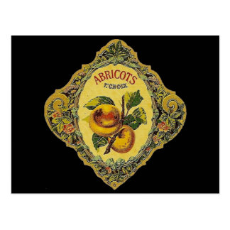 Vintage French Apricot Label Postcards