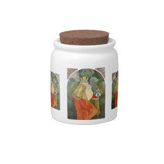 Vintage French Art Nouveau Candy Jar