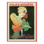 Vintage French art nouveau La Loïe Fuller ad Postcard