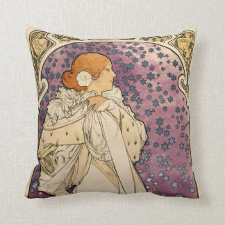 Vintage French Art Nouveau Lady of the Camelias Throw Pillow