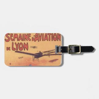 Vintage French Aviation Bag Tag