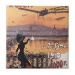 Vintage French Aviation Ceramic Tile