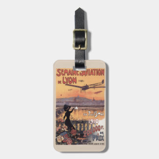 Vintage French Aviation Luggage Tags