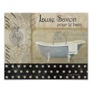 Vintage French Bath Poster