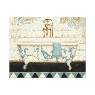 Vintage French Bathtub Canvas Print