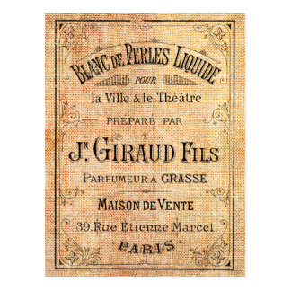 Vintage French beauty label Postcard