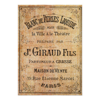 Vintage French beauty label Poster