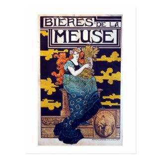 Vintage French Beer Advertisement Postcard