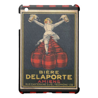Vintage French Beer Advertising Poster Checkered Cover For The iPad Mini