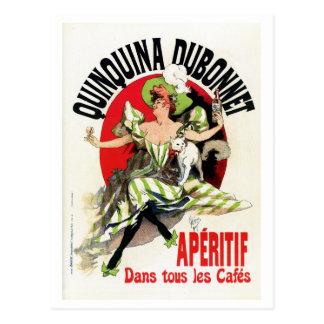 Vintage French belle epoque apéritif ad Postcard