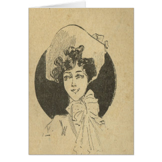 Vintage French, Belle Epoque, Fashionable lady Card