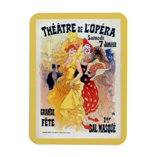 Vintage French belle époque masquerade ball ad Magnet