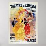 Vintage French belle époque masquerade ball ad Poster