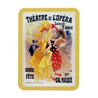 Vintage French belle époque masquerade ball ad Rectangular Photo Magnet