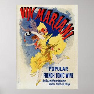 Vintage French bellé époque wine aperitif ad Poster