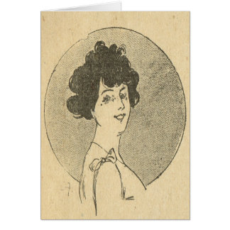 Vintage French, Belle Epoque, Young lady Card