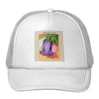 Vintage French Bellflower Flower Seed Package Trucker Hat