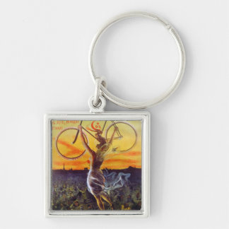 Vintage French Bicycle Art Key Chains