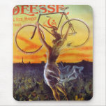 Vintage French Bicycle Art Mousepad ~
