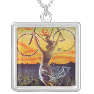 Vintage French Bicycle Art Necklace ~