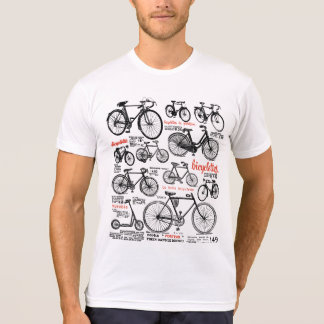 Vintage French Bicycle Catalog Ad Design Tee Shirt