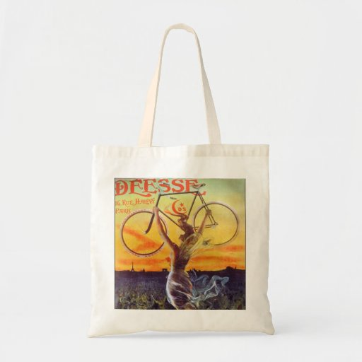 Vintage French Bicycle Poster Budget Tote Bag