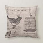 Vintage French Bird pillow