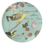 Vintage French Birds plate