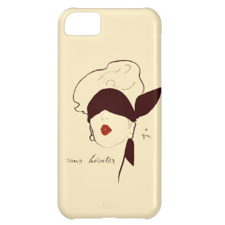 Vintage French Blindfolded Woman Rene Gruau Tan iPhone 5C Cover