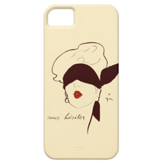 Vintage French Blindfolded Woman Rene Gruau Tan iPhone SE/5/5s Case