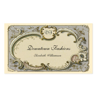 Vintage French Blue Scroll Business Cards