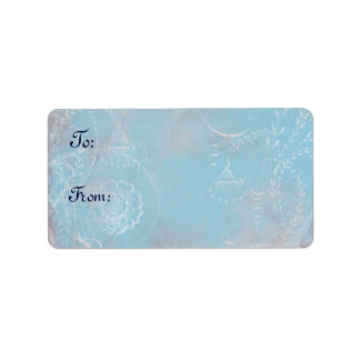 Vintage French Blue Toile Custom Labels Stickers