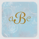 Vintage French Blue Toile Personalized Stickers