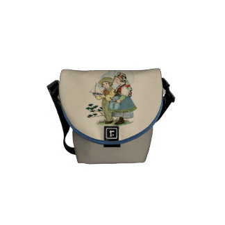 Vintage French Breton Children Mini Messenger Bag