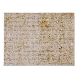 Vintage French Brown Tan Text Old Parchment Paper Photo Art