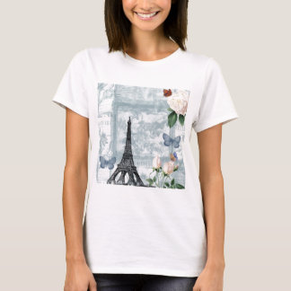 Vintage French Butterflies and Roses T-Shirt