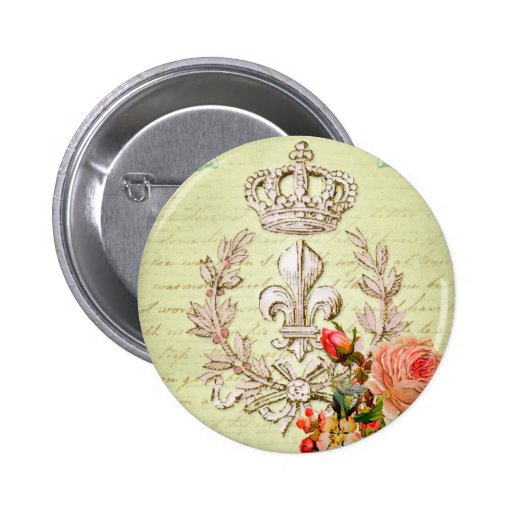 Vintage French Pinback Buttons