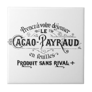 Vintage French Cacao - Payraud Ad Tiles