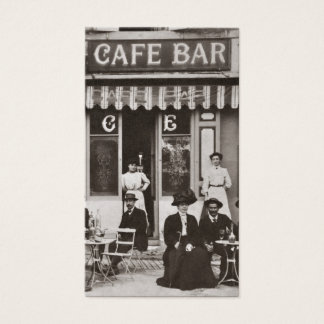 Vintage French cafe bar scene Business Card