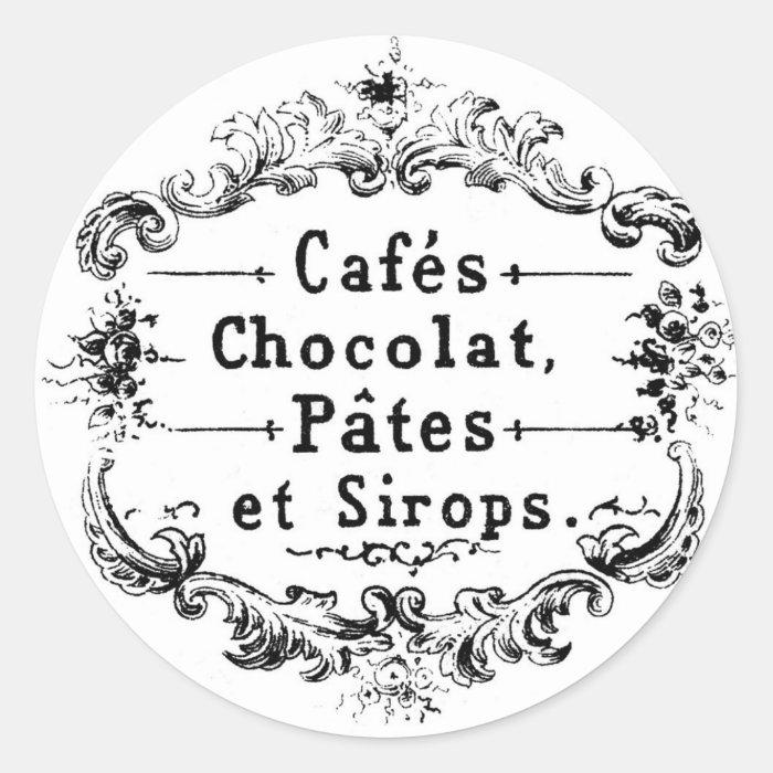 Vintage French Cafe Sticker