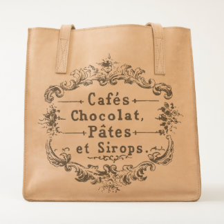 Vintage French Cafes Chocolat Pates et Sirops Tote