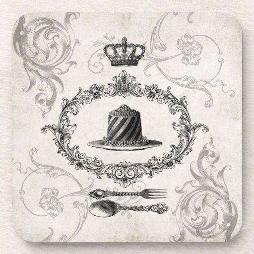 Vintage French Cake coaster