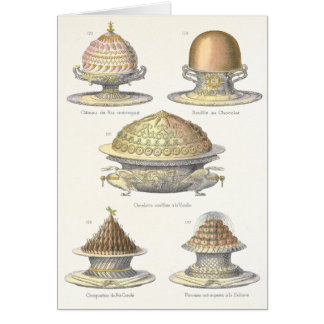 Vintage French Cakes and Soufflees Birthday Card