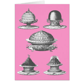 Vintage French Cakes Birthday Card
