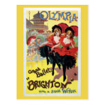 Vintage French can-can (cancan) dance Postcard